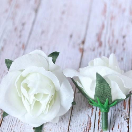 Роза мини (головка) Белая 3.5  см фото