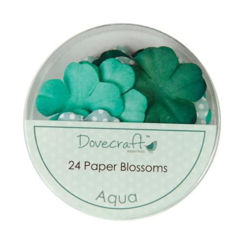 Набор цветов Aqua, Dovecraft, 24 шт
