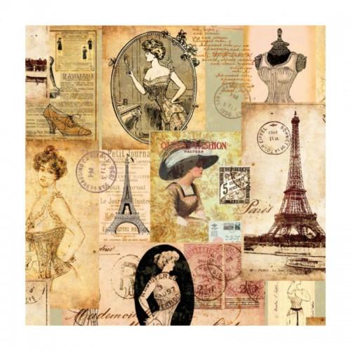 Салфетка для декупажа Мадам в Париже Ambiente