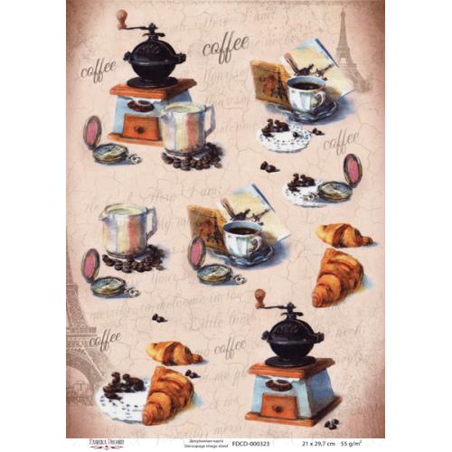 Декупажная карта Coffee, 21x30см, Фабрика Декору