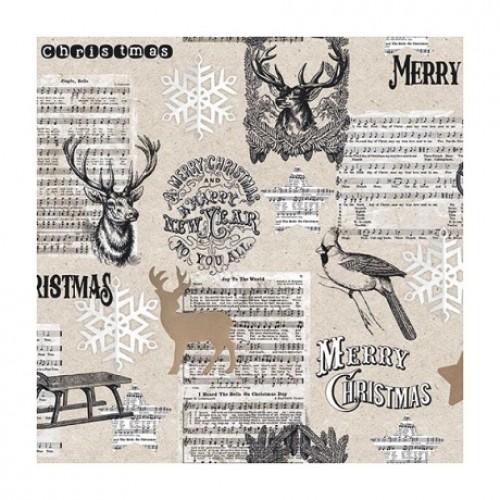 Салфетка для декупажа Merry Christmas  Ambiente