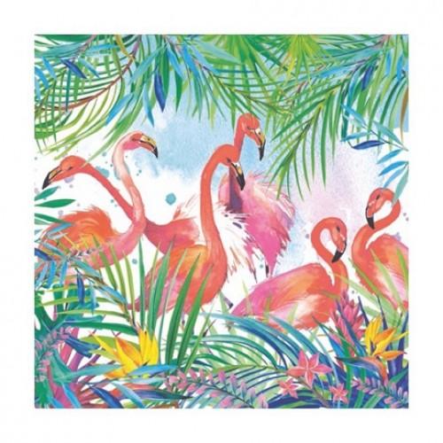 Салфетка для декупажа Фламинго ti-flair