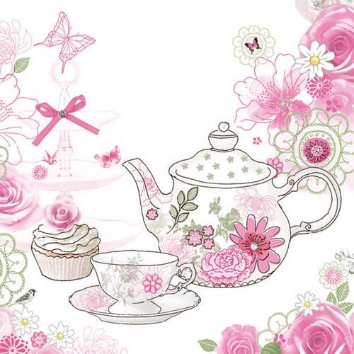 "Салфетка для декупажа ""Время пить чай"", Maki"