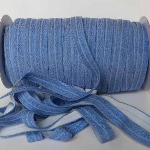 Эластичная лента Синяя с блестками фото