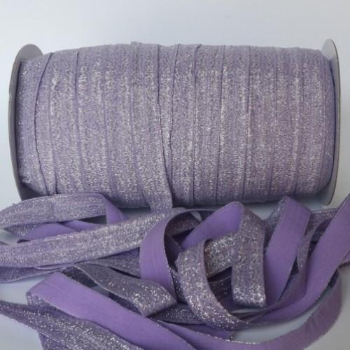 Эластичная лента Фиолетовая с блестками фото