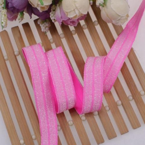 Эластичная лента Розовая с блестками фото
