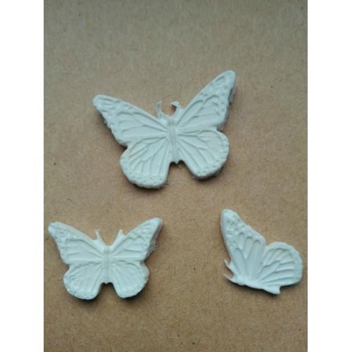 """Набор фигурок из полимерной глины """"Бабочки"""" - 3 элемента"""