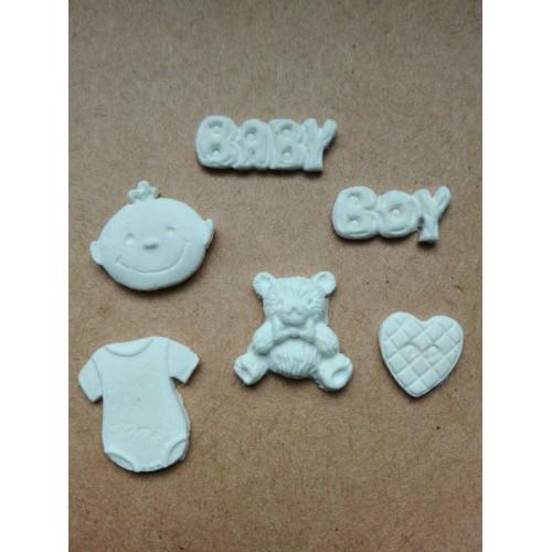 """Набор фигурок из полимерной глины """"Baby boy"""" - 6 элементов"""
