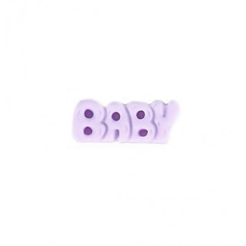 Фигурка из пластика надпись BABY, сиреневый