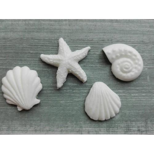 Фигурка из пластика Набор морской, 4 шт