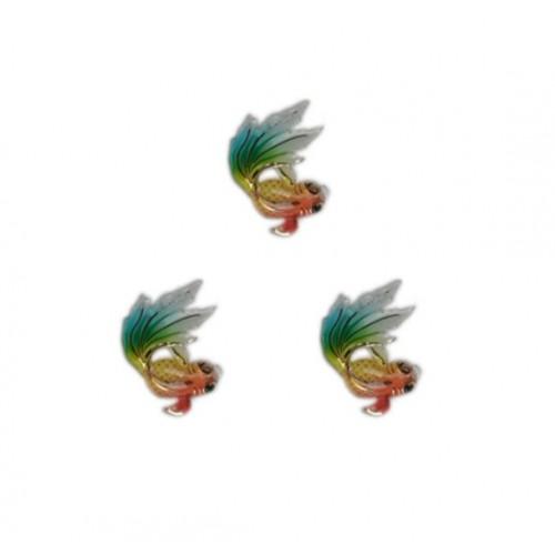 Кабошон Рыбка Гуппи разноцветная, 25*30 мм