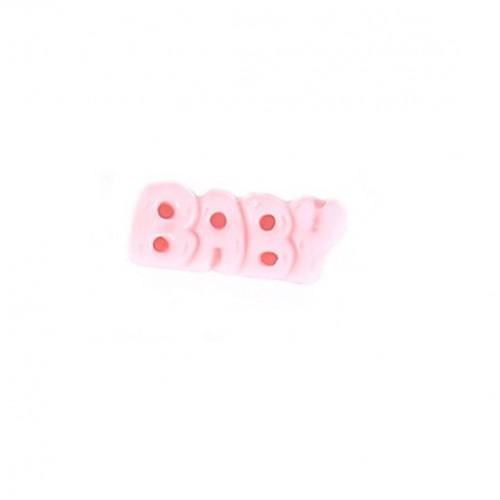 Фигурка из пластика надпись BABY, светло-розовый