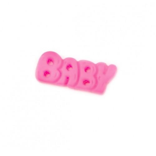 Фигурка из пластика надпись BABY, малиновый