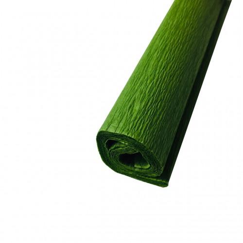 Гофрированная (креп) бумага для творчества, зеленая, 50х250 см