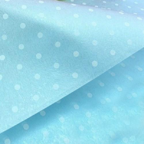 Фетр ламинированный горох голубой, фото