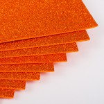 Фоамиран с глиттером на клеевой основе Оранжевый фото
