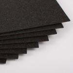 Фоамиран с глиттером на клеевой основе Черный, 20*30 см