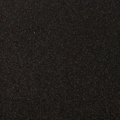 Фоамиран с глиттером на клеевой основе Черный фото