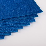 Фоамиран с глиттером на клеевой основе Синий фото