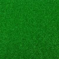 Фоамиран с глиттером на клеевой основе Зеленый, 20*30 см