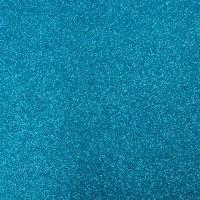 Фоамиран с глиттером на клеевой основе Голубой, 20*30 см