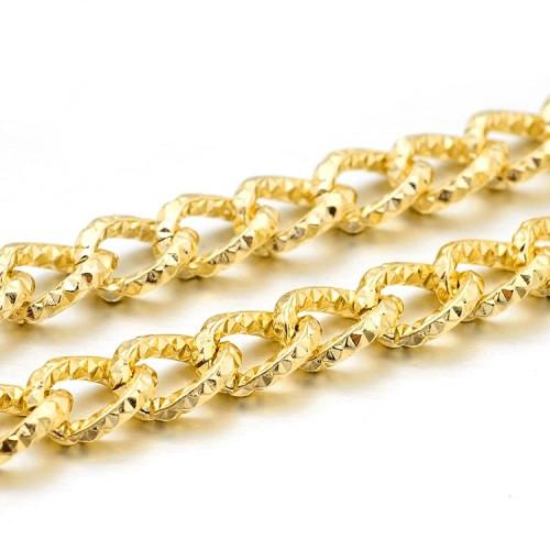 Цепь витая граненная Золото, 1 м