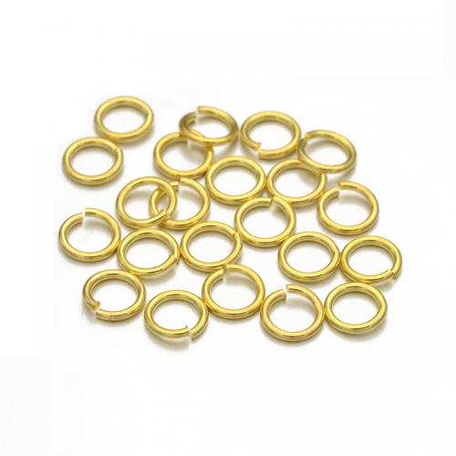 Колечки одинарные открытые Золото 4 мм фото
