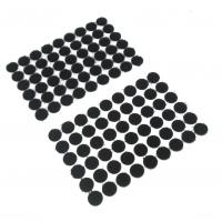 Круглая самоклеющаяся липучка Черная, 1.5 см