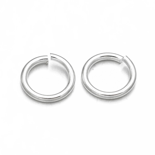Колечки одинарные открытые Серебро 4 мм фото