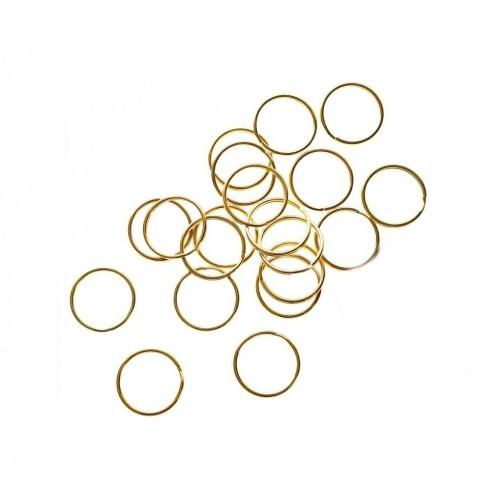 Кольцо для брелка Золото, 15 мм