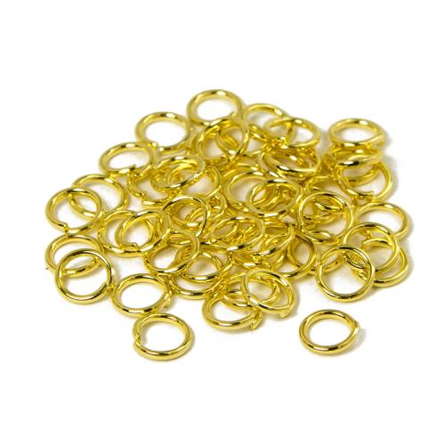 Колечки одинарные Золото 7 мм фото