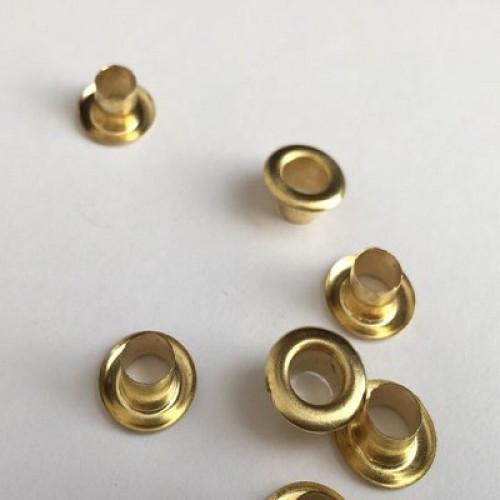 Люверсы Золото 6,5 мм фото
