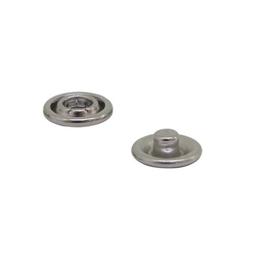 Кнопка клямерная, металлическая 6 мм