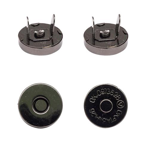 Магнитная кнопка Никель темный, 15 мм