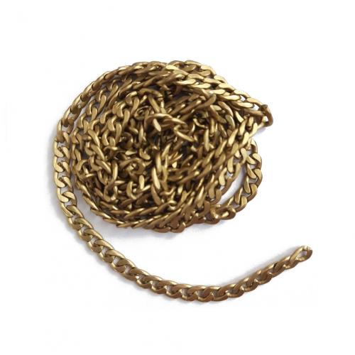 Цепь витая алюминиевая Золото, 1 м
