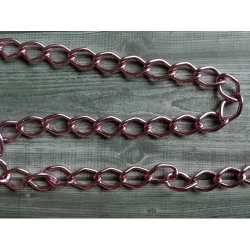 Цепь алюминиевая Розовая фото