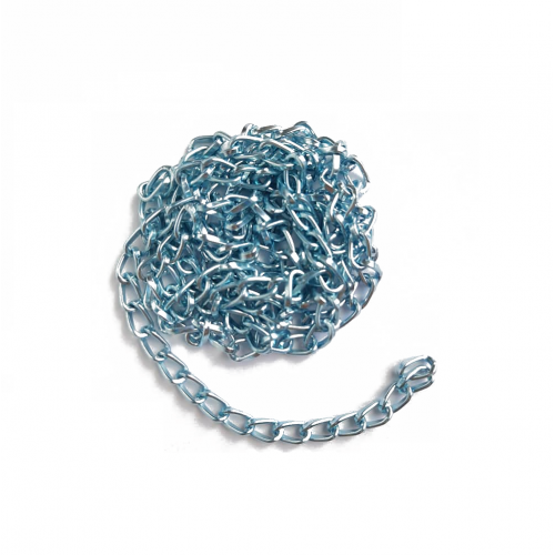 Цепь алюминиевая Голубая фото