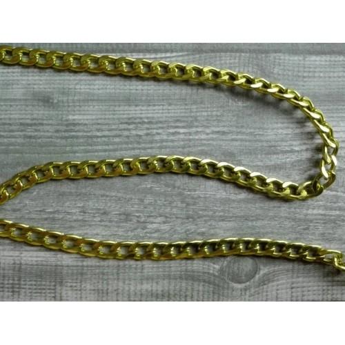 Цепь витая алюминиевая Желтый, 1 м