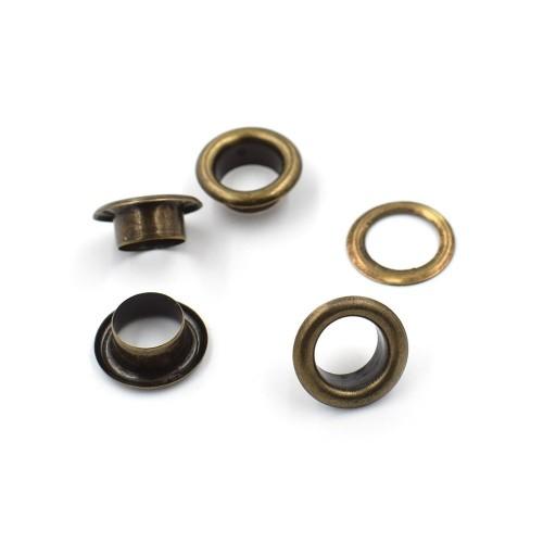 Люверсы (блочка) Темный никель 3,8 мм фото