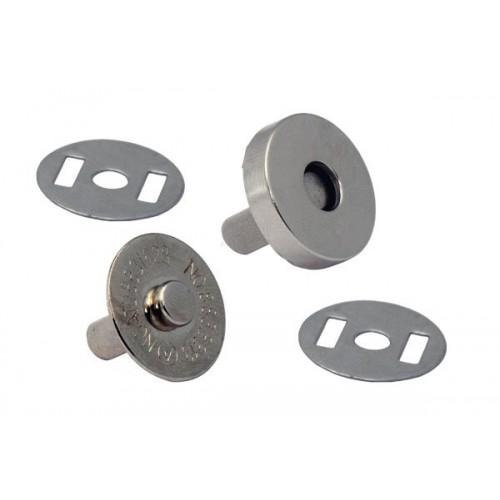 Магнитная кнопка Серебро, 18 мм