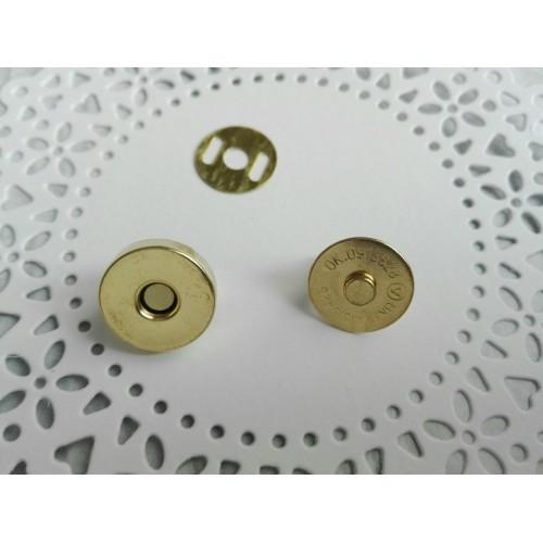 Магнитная кнопка Золото 18 мм фото