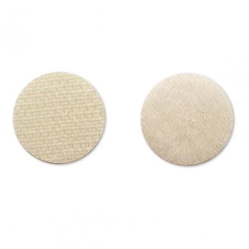 Круглая самоклеющаяся липучка Бежевая, 1.5 см