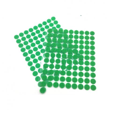 Круглая самоклеющаяся липучка Зеленая, 1 см
