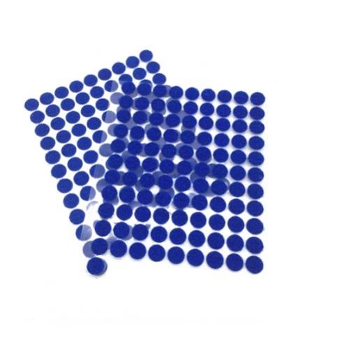 Круглая самоклеющаяся липучка Синяя, 1 см