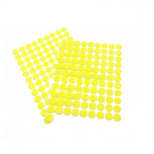 Круглая самоклеющаяся липучка Желтая, 1 см