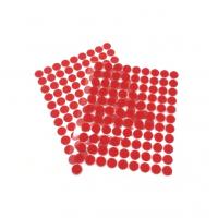 Круглая самоклеющаяся липучка Красная, 1 см