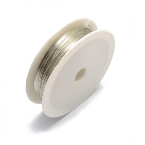купить проволоку для бисероплетения 0,37 мм. серебряную