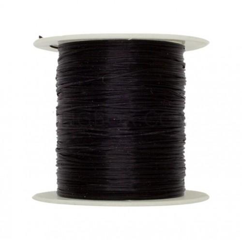 Силиконовая нить для бисера, цвет черный, 11 м