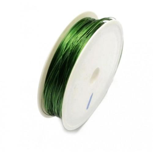 Проволока для бисероплетения 0,30 мм Зеленая, 50 м