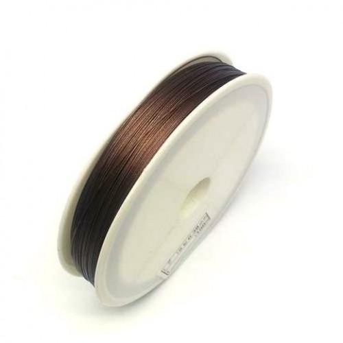 купить проволоку для бисероплетения 0,30 мм. коричневую